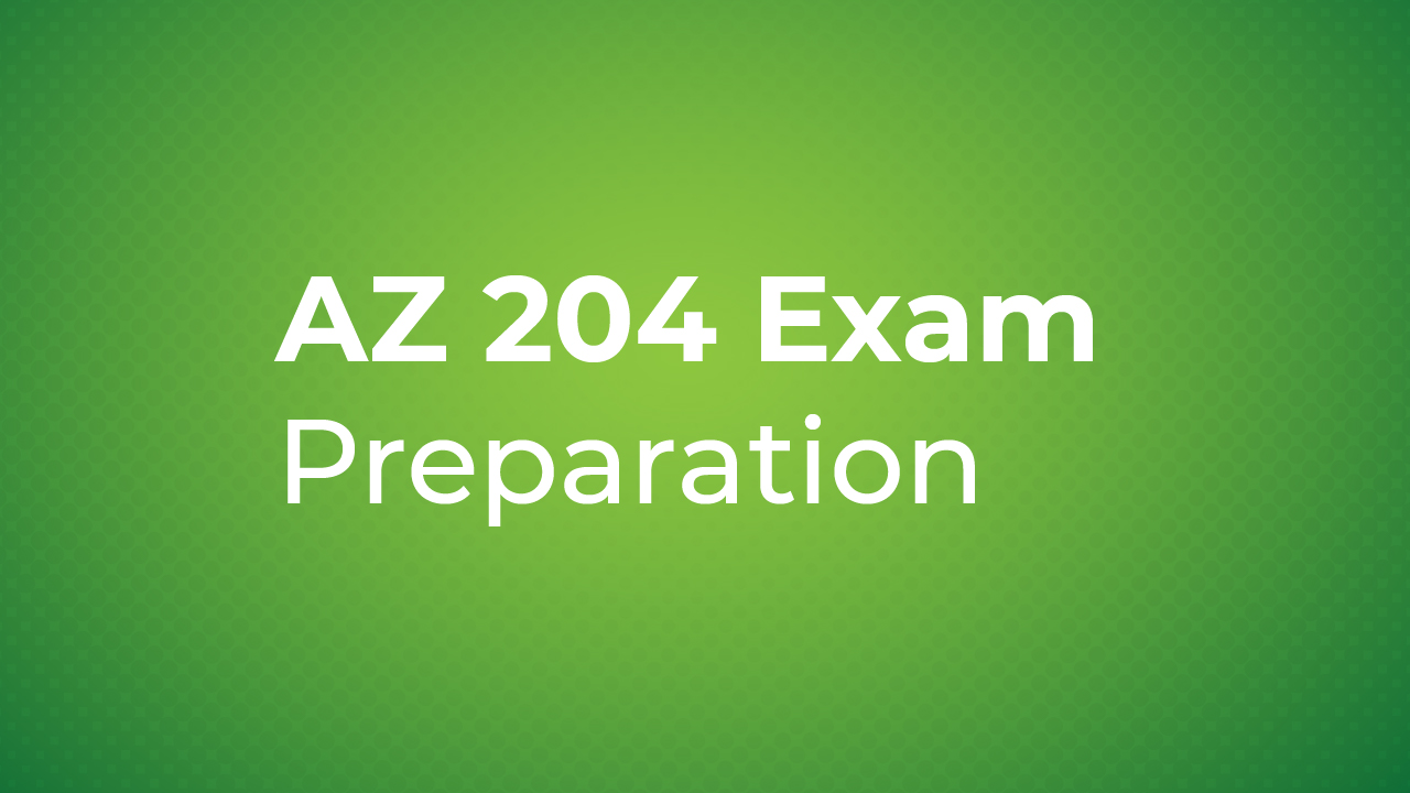 AZ 204 exam preparation