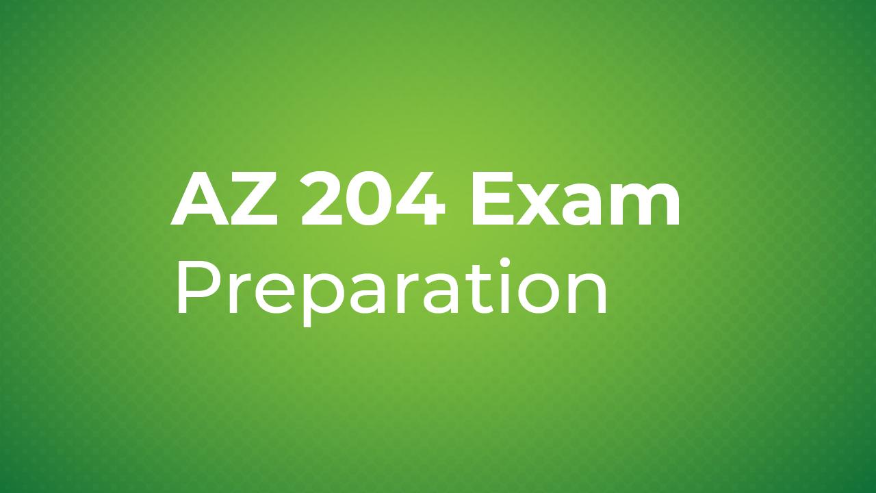 AZ 204 exam preparation