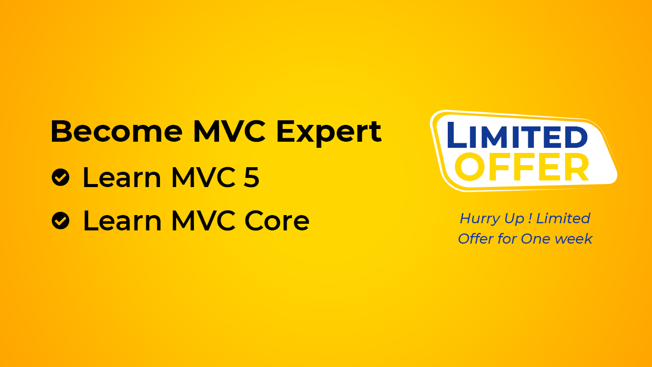 Learn MVC 5 in 2 days, Learn MVC Core in 4 hours, MVC Core Training