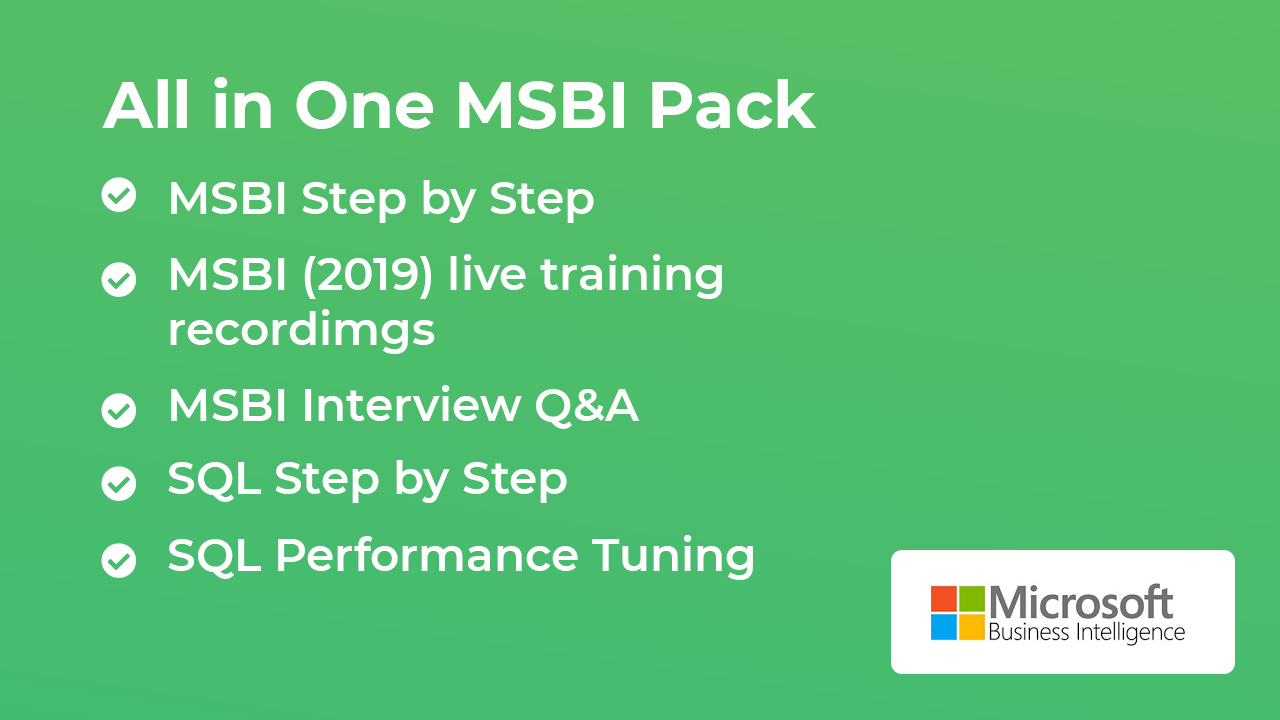 MSBI STEP BY STEP VIDEOS WITH LIVE ONLINE TRAINING